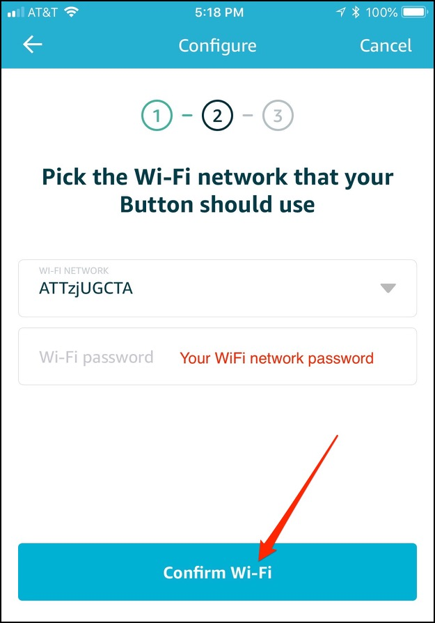 Aws iot wifi network password